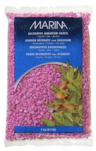 Marina Pink Decorative Aquarium Gravel, 2kg